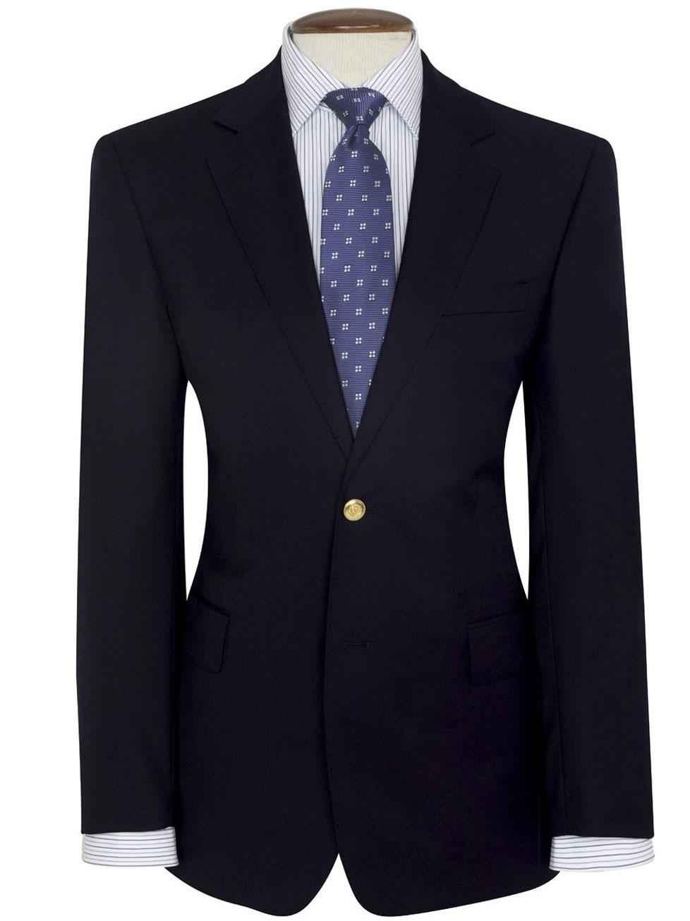 Blazers For Men Pinterest: Navy Single Breasted Blazer