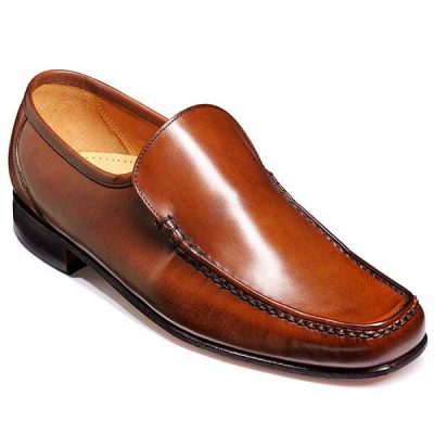 Barker Shoes - Javron Moccasin Brown Burnished Calf