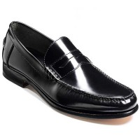 Barker Shoes - Newington - Black Hi-Shine - Loafer Moccasins