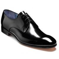 Barker Shoes - Rutherford Black Cobbler - Derby Style