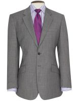 Brook Taverner - Grey Sharkskin Suit - Dawlish Classic fit