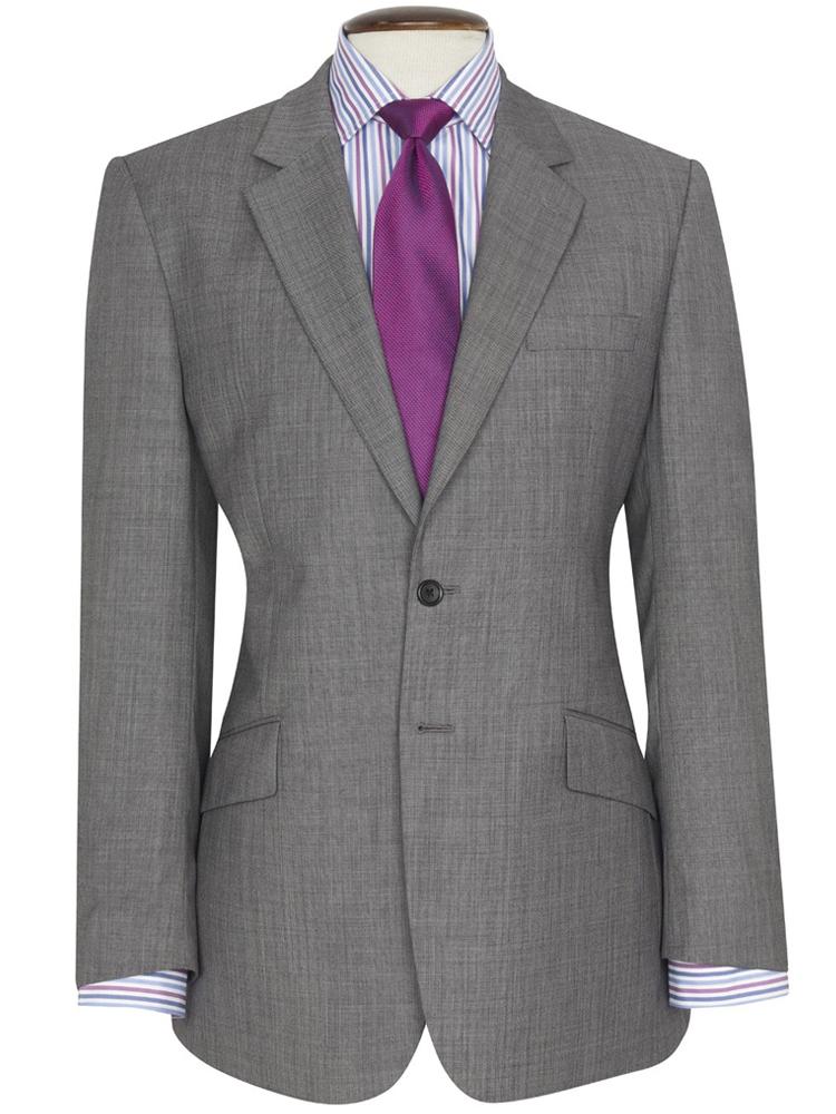 Brook Taverner - Grey Sharkskin Suit - Dawlish Classic fit