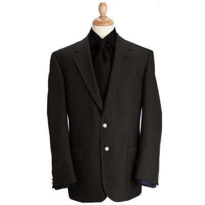 Brook Taverner Henley Blazer - Black Classic Fit Jacket