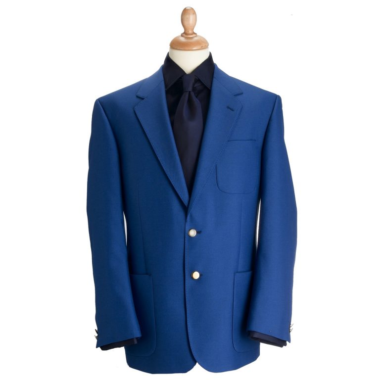 Brook Taverner Henley Blazer - Royal Blue Classic Fit Jacket