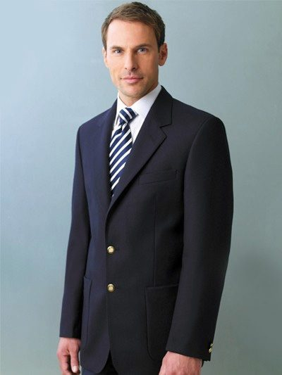 Brook Taverner Oxford Blazer - Navy Pure Wool Blazer