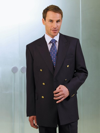 Brook Taverner Reigate Blazer - Navy Double Breasted Pure Wool