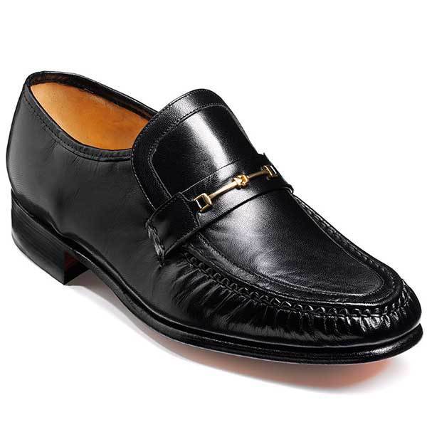 Barker Shoes - Laurie Black Kid Leather - Moccasin Loafer