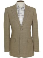 Brook Taverner Camberley Sports Jacket - Oatmeal Check Mid Weight