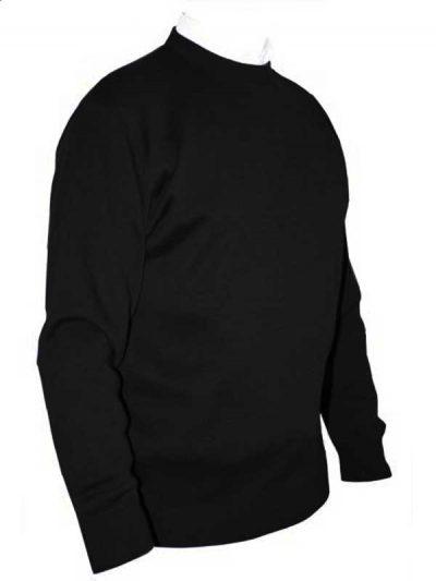 Franco Ponti Crew Neck Sweater - Black