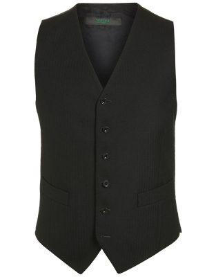 Masonic Magee Black Herringbone Waistcoat 3539