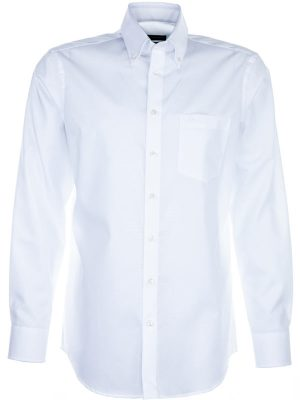 Seidensticker Shirt - Button Down Collar - Splendesto Pure Cotton - White