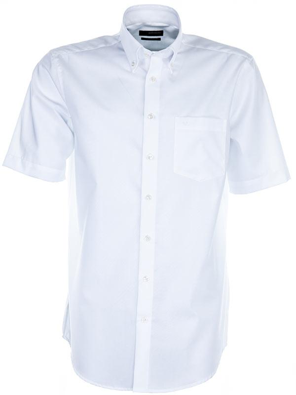 Seidensticker Short Sleeve Shirt - BD Collar - Cotton Modern Fit ...