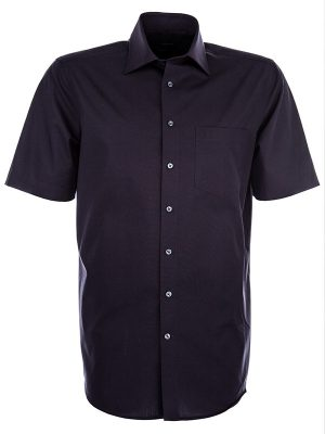 Seidensticker Short Sleeve Shirt - Splendesto Pure Cotton - Black