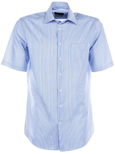 Seidensticker Short Sleeve Shirt - Splendesto Cotton - Blue Stripe