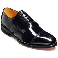 Barker Shoes - Perth - Derby Style - Black Hi-Shine