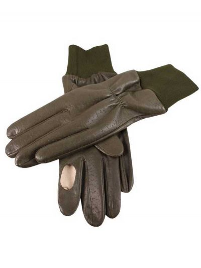 Dents Shooting Gloves - Right Hand - Imitation Peccary Leather - Green