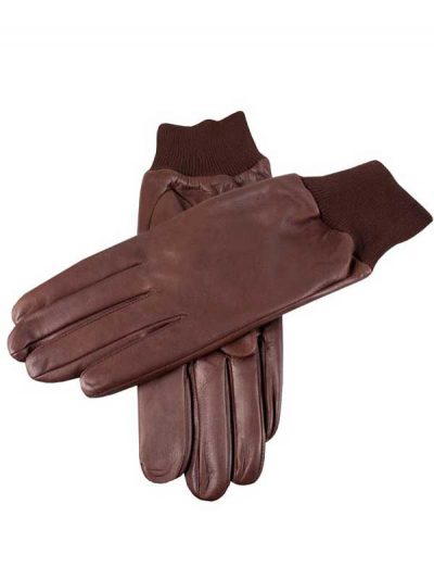 Dents Shooting Gloves - Right Hand - Water Resistant Leather - Brown