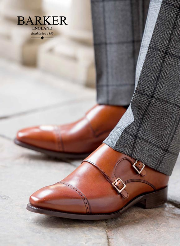 Get The Look: Brown Double Monk Strap Shoes from Barker Shoes