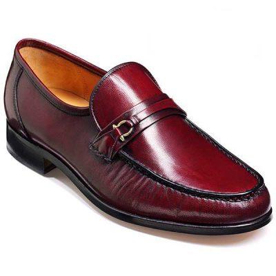 Barker Shoes - Wade Burgundy Kid Leather - Moccasin Loafer