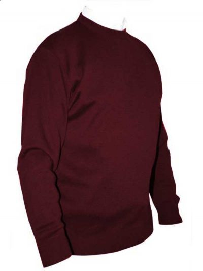 Franco Ponti Crew Neck Sweater - Burgundy