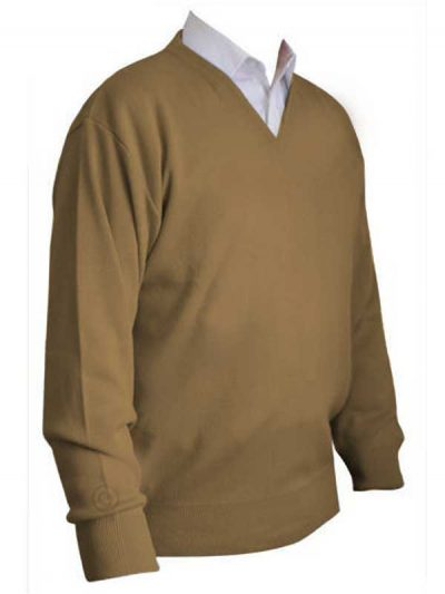 Franco Ponti V-Neck Sweater - Camel