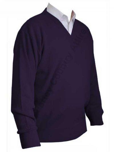 Franco Ponti V-Neck Sweater - Purple