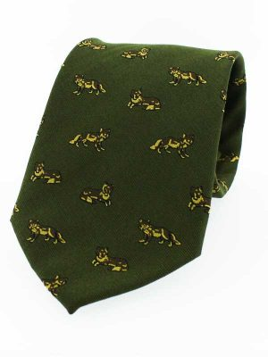 Shotgun Design Green Neck Tie Game Shooting Mens Gift