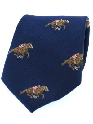 Soprano - Navy Horse Racing Woven Silk Tie