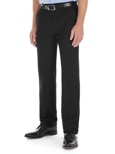 GURTEEN Trousers - Cologne Formal Stretch Flannels - Black