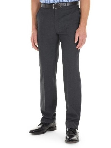 GURTEEN Trousers - Cologne Formal Stretch Flannels - Charcoal
