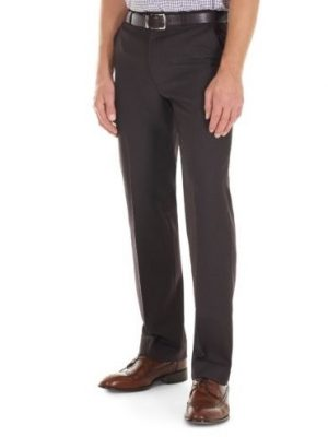 GURTEEN Trousers - Cologne Formal Stretch Flannels - Conker Brown