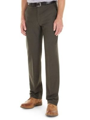 GURTEEN Trousers - Cologne Formal Stretch Flannels - Lovat Green