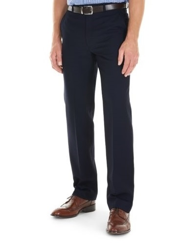 GURTEEN Trousers - Cologne Formal Stretch Flannels - Navy