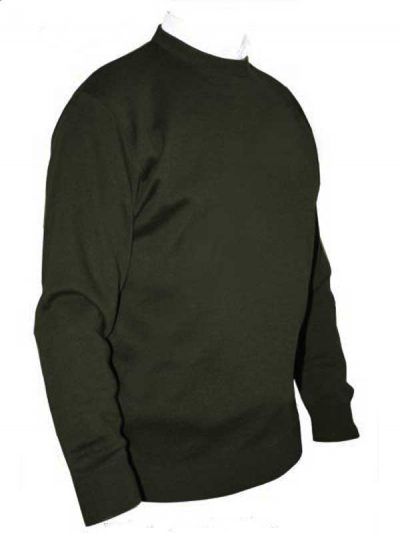 Franco Ponti Crew Neck Sweater - Moss