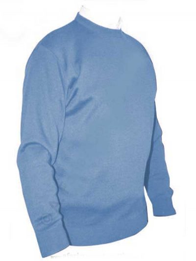 Franco Ponti Crew Neck Sweater - SkyFranco Ponti Crew Neck Sweater - Sky