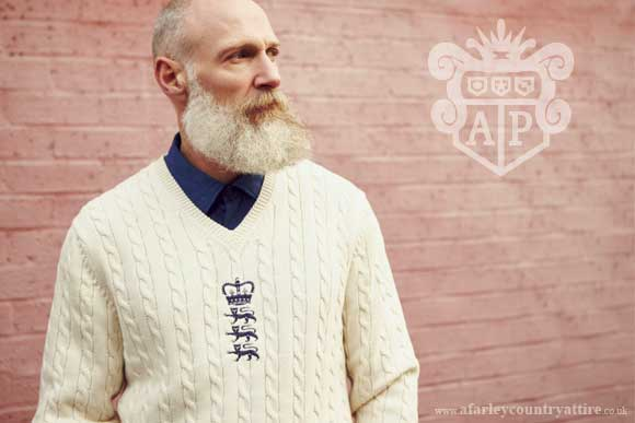 Get The Look: LIMITED EDITION England Ashes Cricker Sweater by Alan Paine