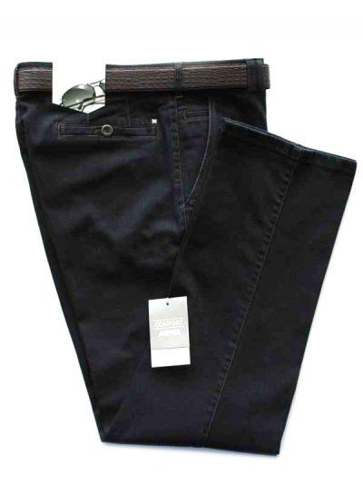 Meyer Navy Stretch Denim Trousers - Roma 629