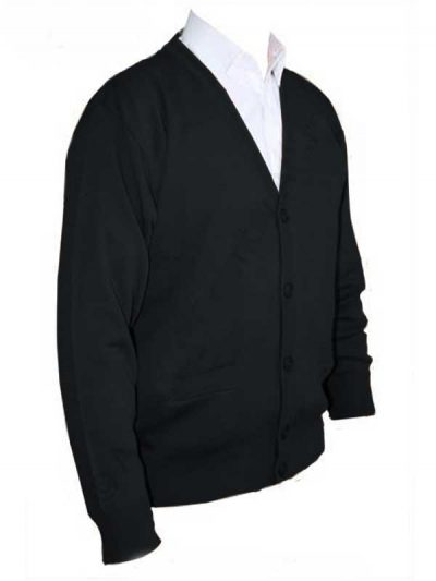 Franco Ponti Cardigan - Merino Wool Blend K05 - Black