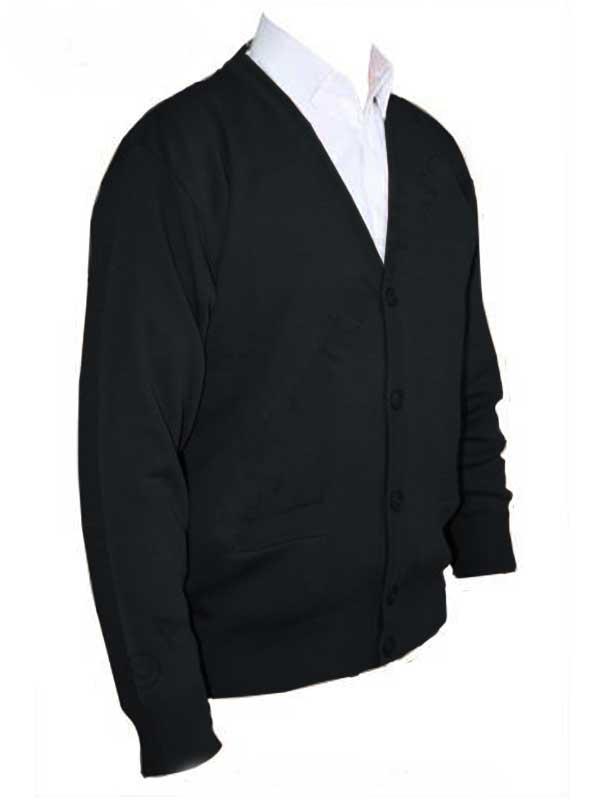 Franco Ponti Cardigan - Merino Wool Blend K05 - Black
