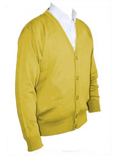 Franco Ponti Cardigan - Merino Wool Blend K05 - Lemon