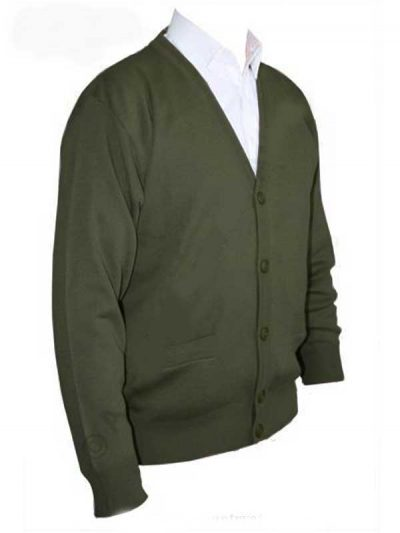 Franco Ponti Cardigan - Merino Wool Blend K05 - Moss