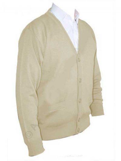 Franco Ponti Cardigan - Merino Wool Blend K05 - Oatmeal