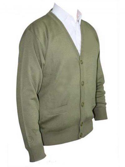 Franco Ponti Cardigan - Merino Wool Blend K05 - Sage