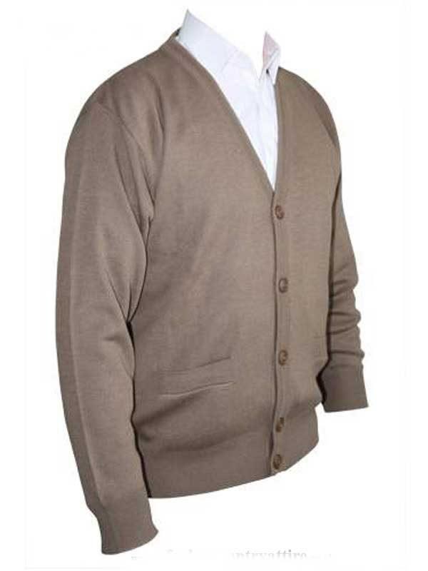 Franco Ponti Cardigan - Merino Wool Blend K05 - Taupe