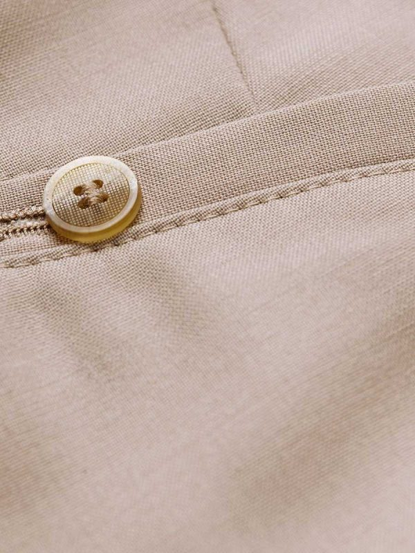 Meyer Roma 344 Trousers - Tropical Wool-Mix - Beige