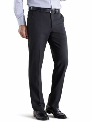 Meyer Roma 344 Trousers - Tropical Wool-Mix - Black
