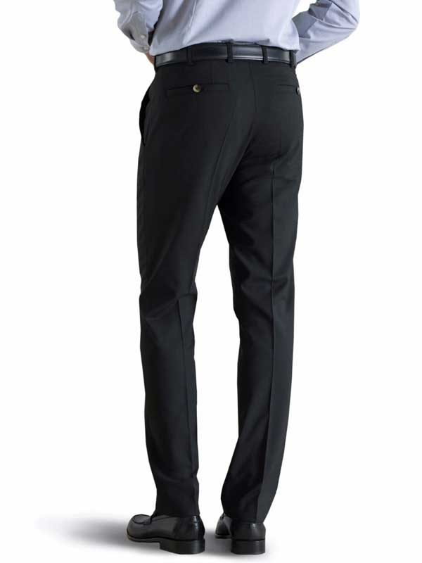 Meyer Tropical Wool-Mix Trousers - Roma 344 - Black