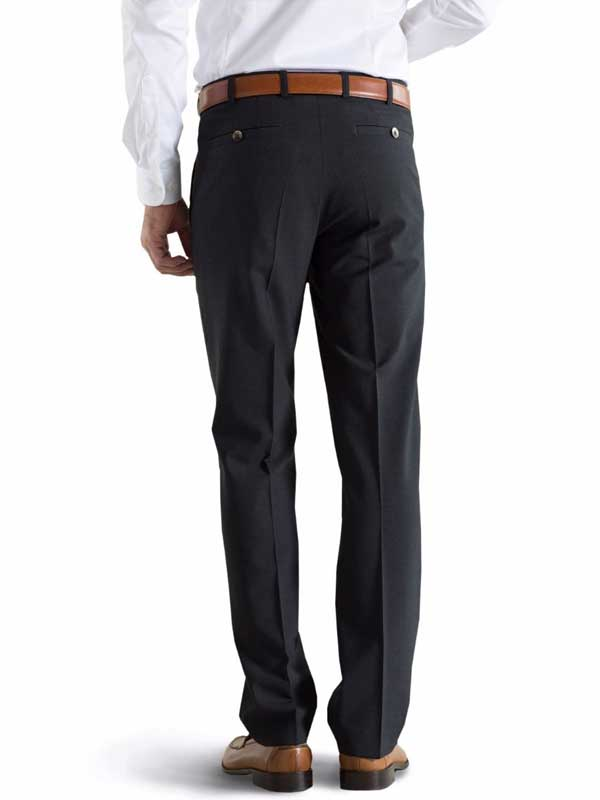 Meyer Tropical Wool-Mix Trousers - Roma 344 - Charcoal