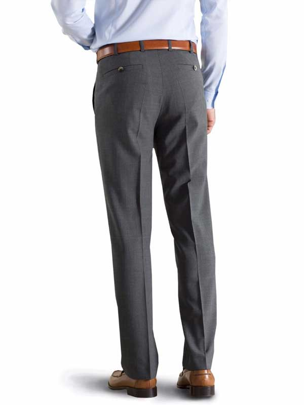 Meyer Tropical Wool-Mix Trousers - Roma 344 - Mid-Grey
