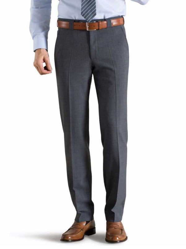 Meyer Roma 344 Trousers - Tropical Wool-Mix - Mid-Grey